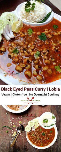 Vegan and gluten-free, this Indian Style Curry requires no overnight soaking and no separate boiling. Everything is just quick. Pea Recipes, Best Vegetarian Recipes, Fall Recipes, Indian Food Recipes, Dinner Recipes, Healthy Recipes, Ethnic Recipes, Vegan Black Eyed Peas Recipe, Beans Curry