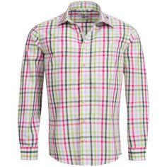 Trachtenhemd Regular Fit mehrfarbig in Pink, Hellgrün und Grün von Almsach