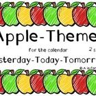 Apple-themed cards for the calendar in 2 sizes: *Yesterday *Today *Tomorrow  Check out more apple-themed products in my store! Apple Calendar Numbe...