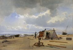 En vraghytte på Skagen strand - Skagens Kunstmuseer