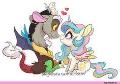 mlp gif,my little pony,Мой маленький пони,фэндомы,Discord,minor,Princess Celestia,Принцесса Селестия,royal,mlp shipping,StePandy