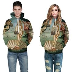 We love it and we know you also love it as well 2016 Artistic Painting Couplewear Leisure Hoodies 3D Print Long Sleeves Hooded Sweatshirts Women Loose Tracksuits for Women just only $18.85 with free shipping worldwide  #womanhoodiessweatshirts Plese click on picture to see our special price for you