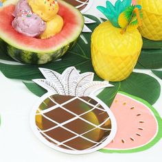 These Watermelon Napkins are simply gorgeous! They are perfect for Summer Parties, Watermelon Parties or Tutti Frutti Parties! They will bring your party tabl