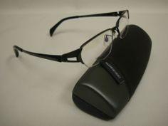 Giorgio Volando men's titanium eyeglass frame G13242-58 - Black color