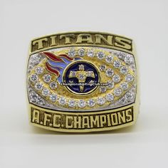 1999 Tennessee Titans AFC Championship Ring. Best gift from www.championshipringclub.com for  Titans fans. You can custom your own personalized championship ring now.
