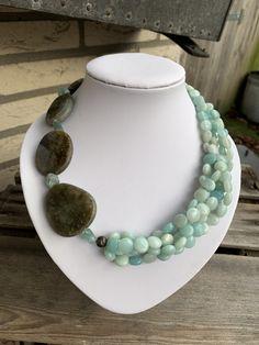 2 tassels beads Amazonite silver Cap 58 mm