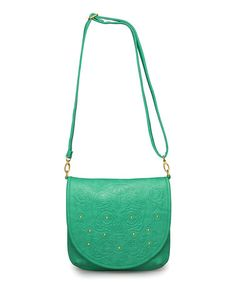 This Teal Embossed Sugar Skull Crossbody Bag by Loungefly is perfect! #zulilyfinds