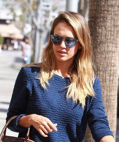 Jessica Alba wore the perfect all-pink-everything outfit to her latest speaking engagement