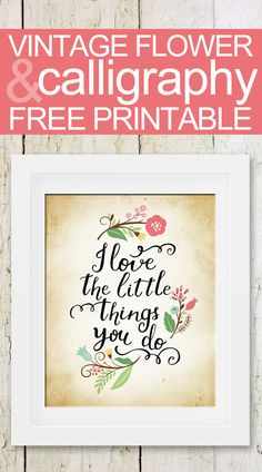 FREE print!  Perfect for Mother's Day!