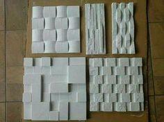 Bloques de piedra en blanco
