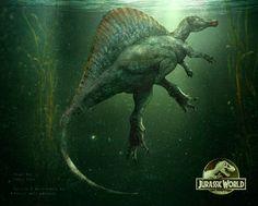 Spinosaurus from Jurassic Park 3 Jurassic World Park, Jurassic Park Poster, Jurassic Park Series, Jurassic World Fallen Kingdom, Spinosaurus Aegyptiacus, Jurrassic Park, Park Art, Jurassic Movies, Dinosaur Park
