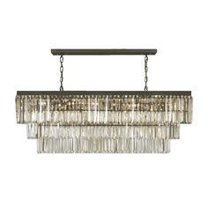 Odeon Crystal Fringe 12-light Rectangular Chandelier | Overstock.com Shopping - Great Deals on Chandeliers & Pendants