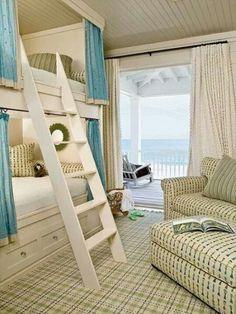 Beach house ideas...using small spaces