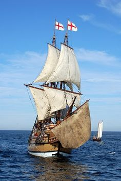 Picture of the Mayflower II at Sail