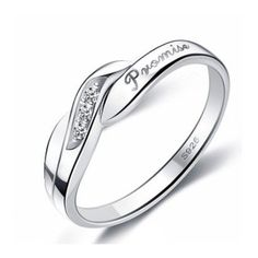 Engravable Designer Promise Ring for Her Cubic Zirconia