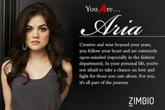Aria - Which 'Pretty Little Liars' Character Are You? - Zimbio
