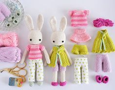 Angie Bunny clothing patterns DIY Easter projects – CrochetObjet by MoMalron