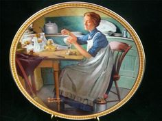 Edwin Knowles China Plate #2747C Norman Rockwell's Rediscovered Women 9th  EUC
