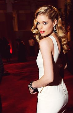 Doutzen Kroes at Met Gala 2012 ♥ loveeee the hair -- PROM HAIR.
