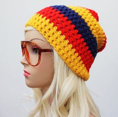 Slouchy Beanie from etsy Slouchy Beanie, Beanie Hats, Slouch Hats, Headbands, Knitted Scarves, Crochet Hats, Cowls, My Style, Yellow
