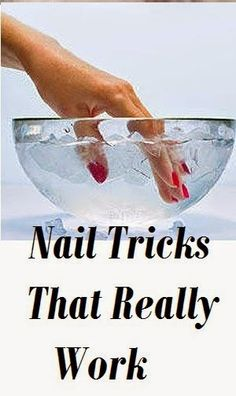 Putting your nails in ice cold water - weird beauty tricks