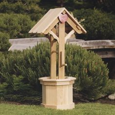 Cedar Wishing Wells : Cedar Garden Small Wishing Well -Garden Bench-Potting Bench-Picnic Table-Garden Chair-Wood Garden Furniture-Garden Table-Buy at Cool Point Landing Garden In The Woods, Lawn And Garden, Garden Art, Garden Ideas, Garden Chairs, Garden Furniture, Garden Table, Wishing Well Garden, Cedar Garden