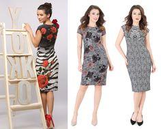 Beautiful brocade dresses YOKKO |fall16 #dress #brocade #prints #flowers #blackwhite #red #velvet #yokko