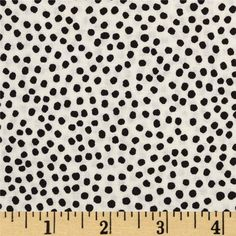 Flora Bleu Bitty Dots Cream from @fabricdotcom  Designed by Loralie Harris for Quilting Treasures, this cotton print fabric is perfect for quilting, apparel and home decor accents. Colors include black and beige.