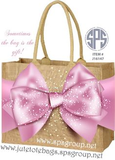 8bc9a136694 Beautiful Jute Shopping Tote Bags! Sometimes the bag is the gift. Jute Tote  Bags