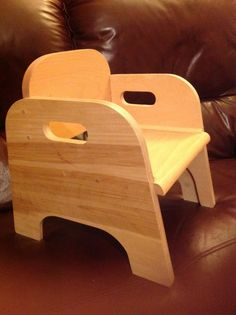 Some stackable chairs we were asked to design for a nursery, the sides are birch plywood and the back and seat beech.