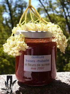 confiture rhubarbe-fraise-sureau