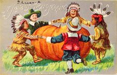 a vintage Thanksgiving card