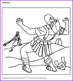 Coloring (David and Goliath) - Kids Korner - BibleWise