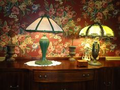 Lg. Heavy Miller Table Lamp arts & crafts/mission slag glass.Handel,B&H,Tiffany  #ArtsCraftsMissionStyle #miller