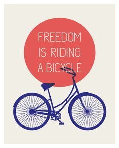 Freedom Bicycle Print  Summer Edition por ModernSouth