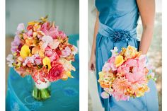 #pink #orange #summer #bouquet #wedding #charleston