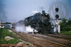 VGN Loco Class PA #214 Right 3/4 Side View at Roanoke,VA May 1954