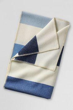 Wool stripe blanket