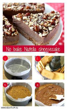 no bake Nutella cheescake