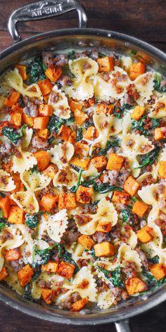 Cookbook Recipes, Cooking Recipes, Healthy Recipes, Dinner Specials, Pasta Recipies, Butternut Squash Pasta, Box Lunches, Starch Solution, Lotsa Pasta