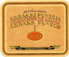 Oy Alkoholiliike Ab, #Alko #alkoholi #etiketit #label #arrakkipunssi