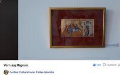 """,,Intrarea în Ierusalim"""", tempera și foiță de aur pe carton, 34,5 x 33, 5 cm, august 2020, autor: Claudiu Victor Gheorghiu. Vernisajul expoziției colective """"MIGNON"""", 8-29 august 2020. Credit foto: Centrul Cultural UNESCO """"Ionel Perlea"""", Slobozia. Romania, Victoria, Culture, Abstract, Frame, Blog, Painting, Home Decor, Italia"""
