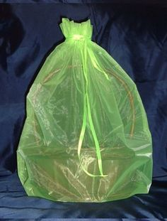 Organza Sheer Basket Bag Gift Pouch-22'x25' - Lime Green - Gift Baskets * Click image for more details.