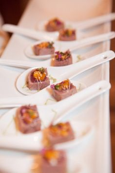 Easy to grab gourmet wedding finger foods.