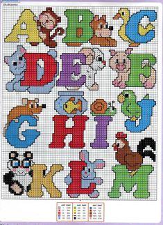 Alphabet animals A-M pattern                                                                                                                                                                                 Más