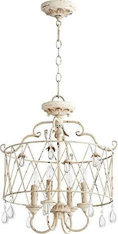 $310 on Amazon - Maybe for over the kitchen table? Quorum Lighting 2844-4-70, Venice Drum Pendant, 4 Light, 80 Total Watts, Persian White Quorum Lighting