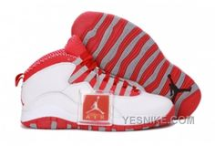 wholesale dealer f71c3 e5bfd Nike Air Jordan 10 X Retro Mens Shoes White   Varsity Red   Steel Grey All  kinds of Cheap Nike Shoes are provided in Nike store with superior quality  and ...