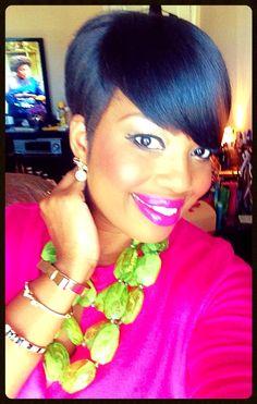 Women's Black Hairstyles: Fabulous Styles – Stylish Hairstyles Short Sassy Hair, Medium Short Hair, Short Hair Cuts, Medium Hair Styles, Natural Hair Styles, Short Hair Styles, Pixie Cuts, Short Pixie, Short Black Hairstyles