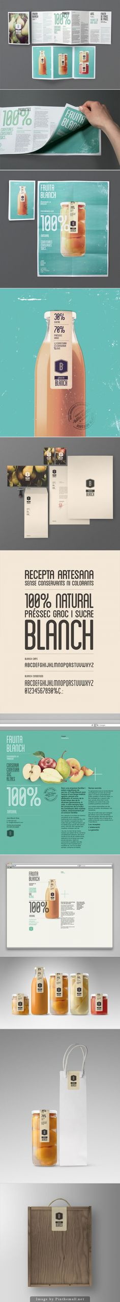 Fruita Blanch | Contributed by Eduard Duch of Barcelona | Product label based design studio Atipus. - created via http://pinthemall.net
