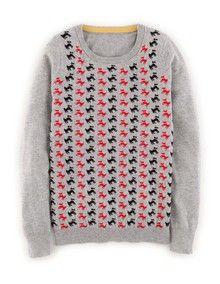 Pattern Sweater with Scottie's! Love Boden!